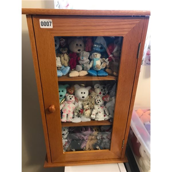Beanie Babies with Display Cabinet
