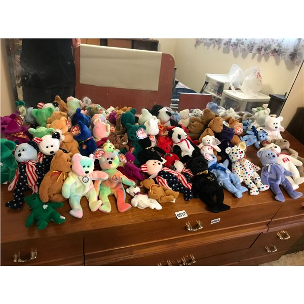 Massive Beanie Baby Collection with Tote