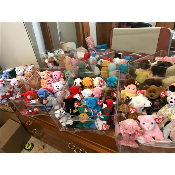 Huge Beanie Baby Collection in Plastic Drawers