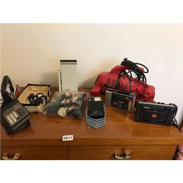 Dirt Devil Steamer, Walkman's, Transistor Radio, Extension Cords & Iron