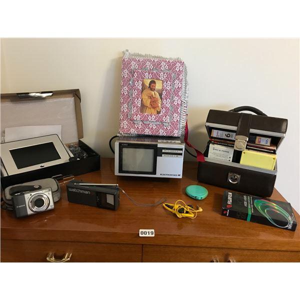 8 Track Tapes, Walkman Digital Photo Frame & Electra-home Nomad TV/Radio