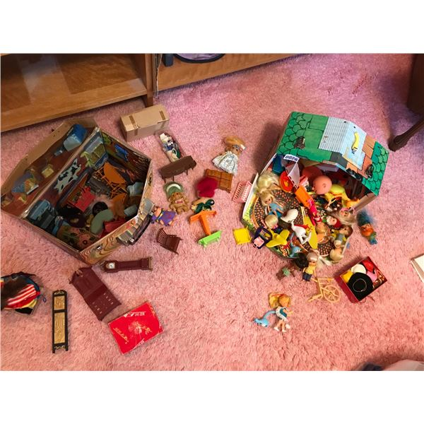 Various Trolls, Dolls, Doll Houses, Furniture and Clothes