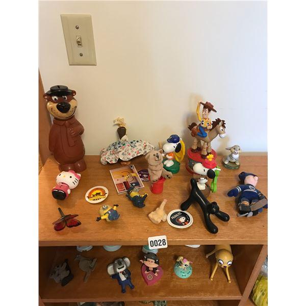 Yogi Bear, Disney and various Figurines
