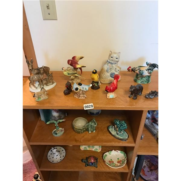 Assorted Glass Figures