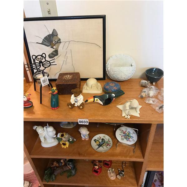 Assorted Home Decor, Baskets, Nativity Scene, Vases and Ashtrays