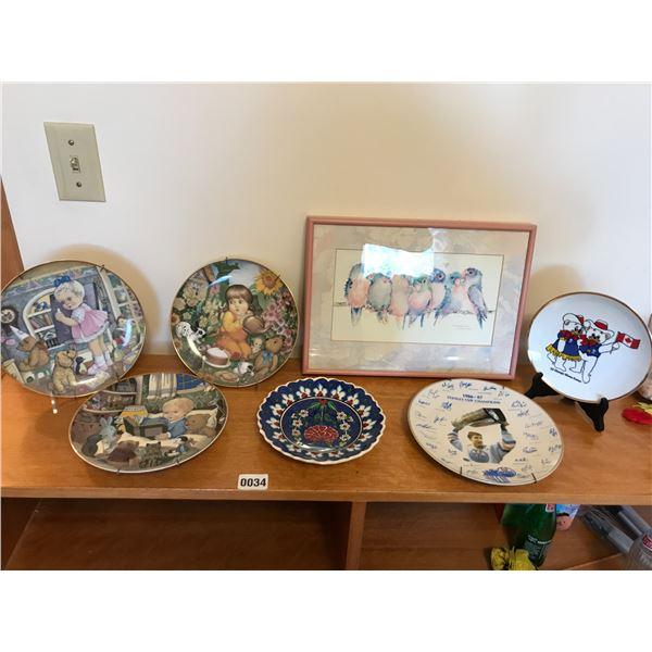 Decorative Plates, Lovebirds Print by V. Pfeiffer