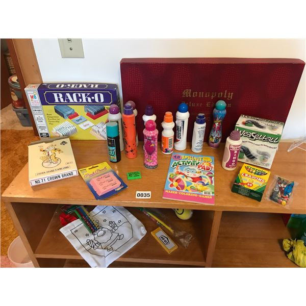 Games, Bingo Dabbers, Monopoly Deluxe Edition Game