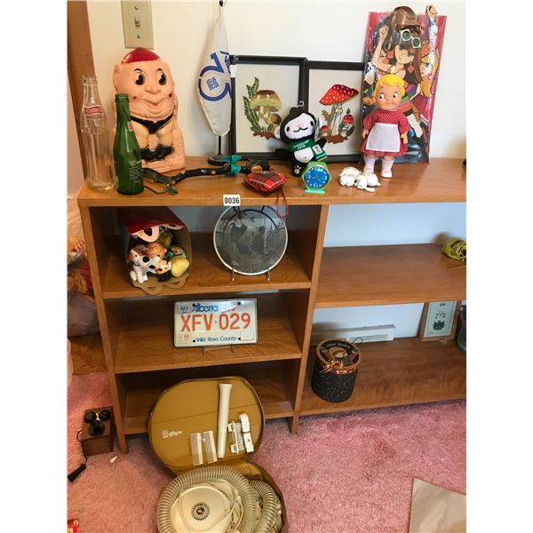 Vintage Hair Dryer, Pop Bottles, Stylist GE Hairdryer, License Plate and Humpty Dumpty