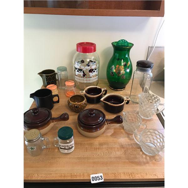 Green Vase, Soup Bowls & Cow Jar