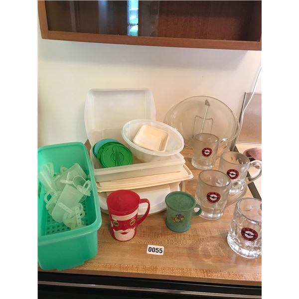 Tupperware, A&W Mugs and Vintage Containers