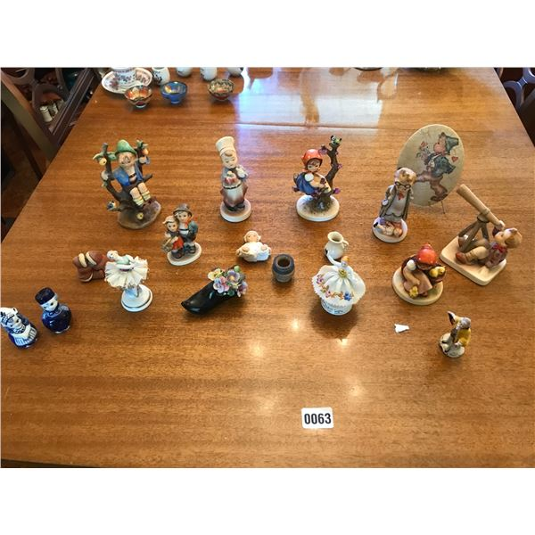Various Figurines including Goebel & Salt & Pepper Shakers