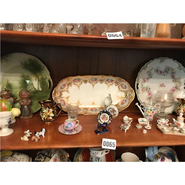 Miniature Collectible China Sets & Assorted China Platters