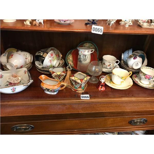 Teacups, Cream and Sugar Bowls & Various China