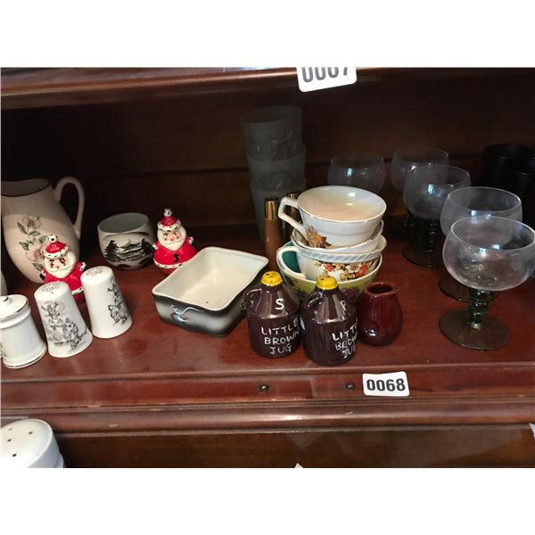 China, Glassware, Teacups, Salt & Pepper Shakers