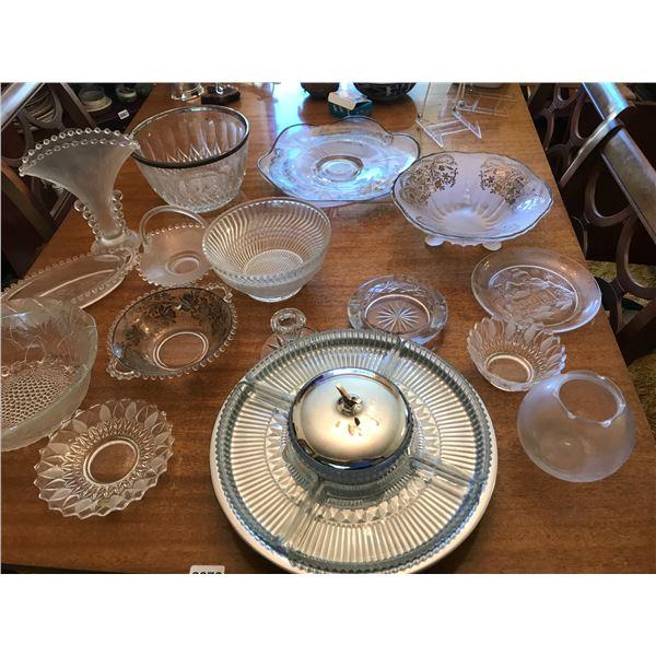 Glass Bowls, Vases & Serving Platters