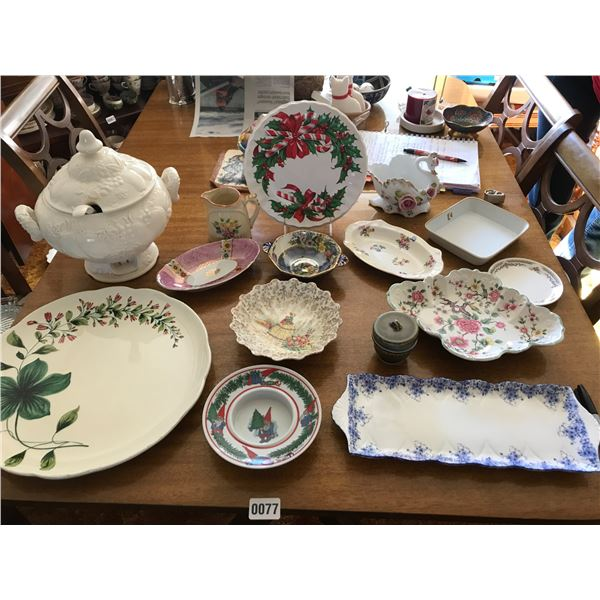 Electric Soup Tureen, Japanese Swan Bowls & Various China