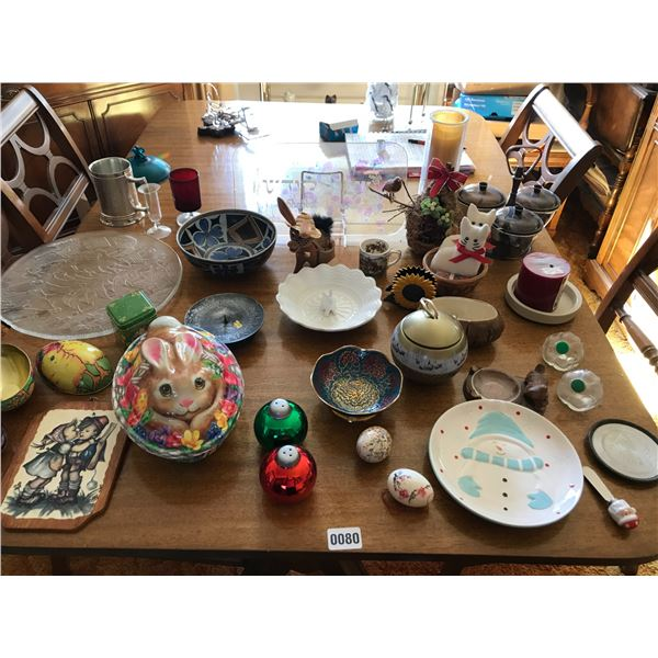 Mid Century Modern Condiment Dish, Holiday Items & Assorted Home Decor