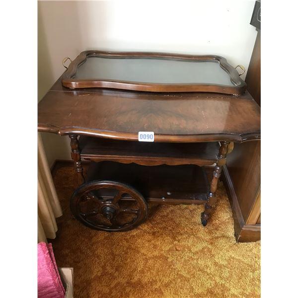 Wood Tea-cart & Tray