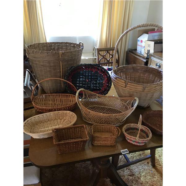 Large Assortment of Baskets