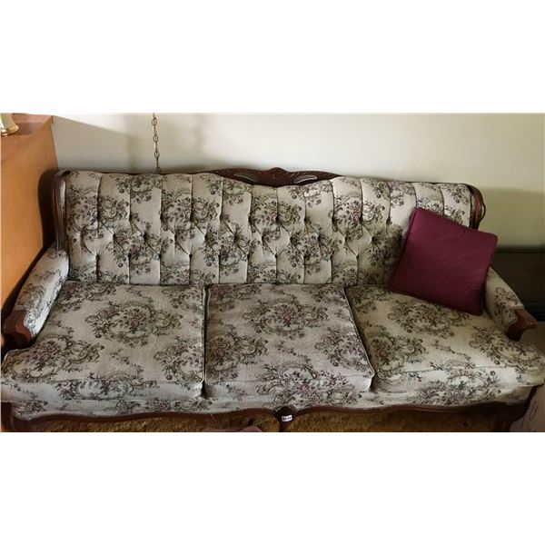 Vintage Couch & Burgundy Pillows