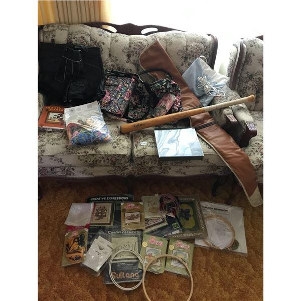Swiss Leather Lederhosen, Needle Craft Kits, Baseball Bat, Heating Pad, Rifle Case, Makeup Bags