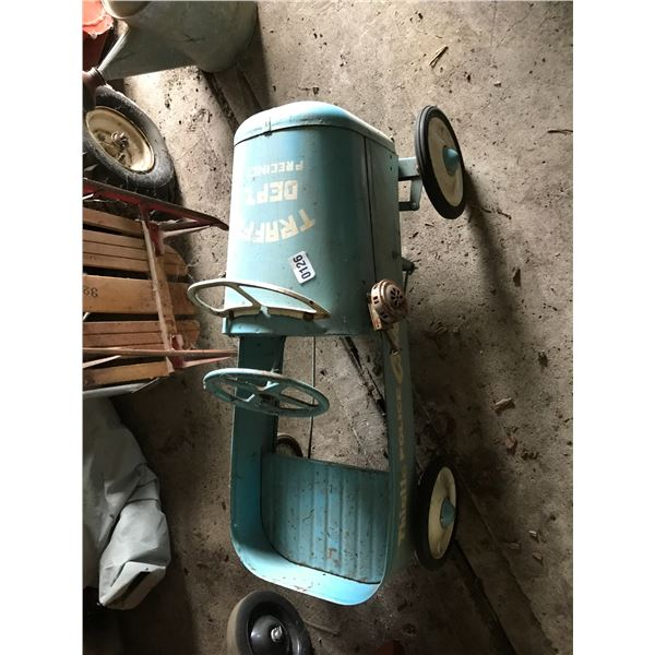 Thistle Police Chief Blue Vintage Children's Toy Car