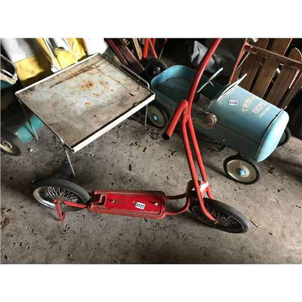 Vintage Red Scooter