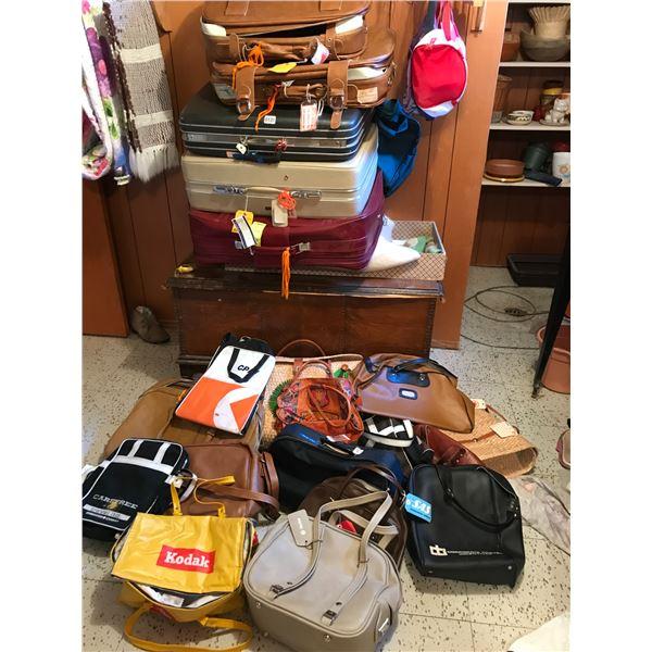 Assorted Vintage Luggage