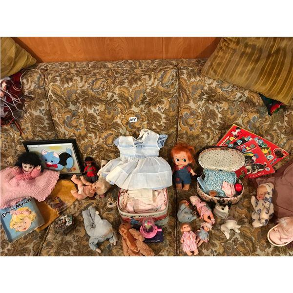 Vintage Dolls, Clothes & Books