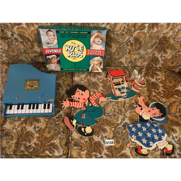 Baby Grand Piano, Vintage Wall Art & Puzzle