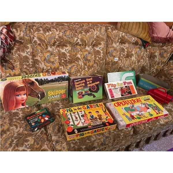 Vintage Games including Skipper, Operation, Give A Show Projector & Slides