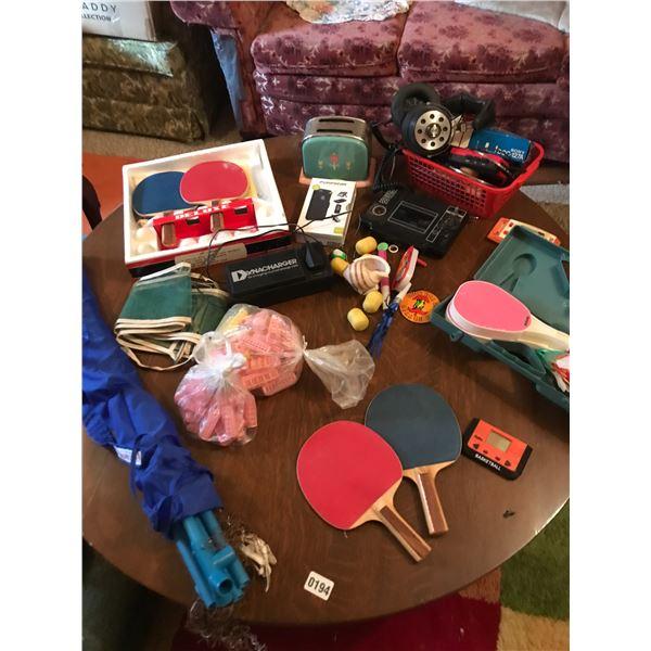 Ping Pong Sets, Walkmans, Headphones, Curlers, Vintage Children's Toaster & Dynacharger Etc.