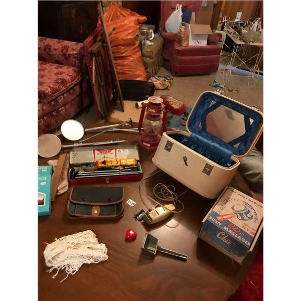 Kerosene Lamp, Gun Cleaning Kit, Body Massager, Electric Razor, Makeup Bag & Rear View Mirrors Etc