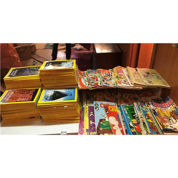 Large Collection of Nation Geographic Magazines & Various Comics