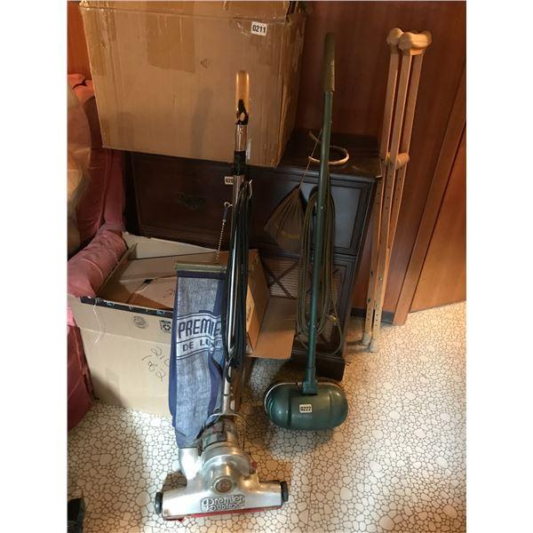 Vintage Premier Delux Vacuum Cleaner, GE Floor Polisher & Buffing Pads
