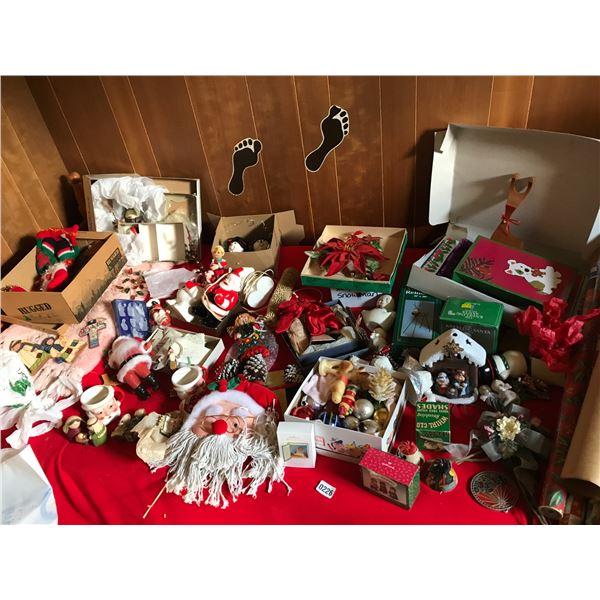 Christmas Nativity Scene, Christmas Wrap, Cow Bells, Tiny Glow Molds, Candles & Christmas Decor