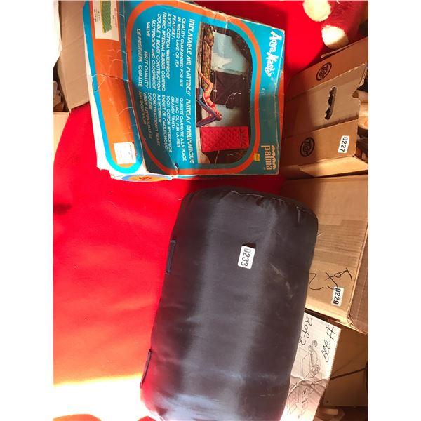Sleeping Bag & Inflatable Air Mattress