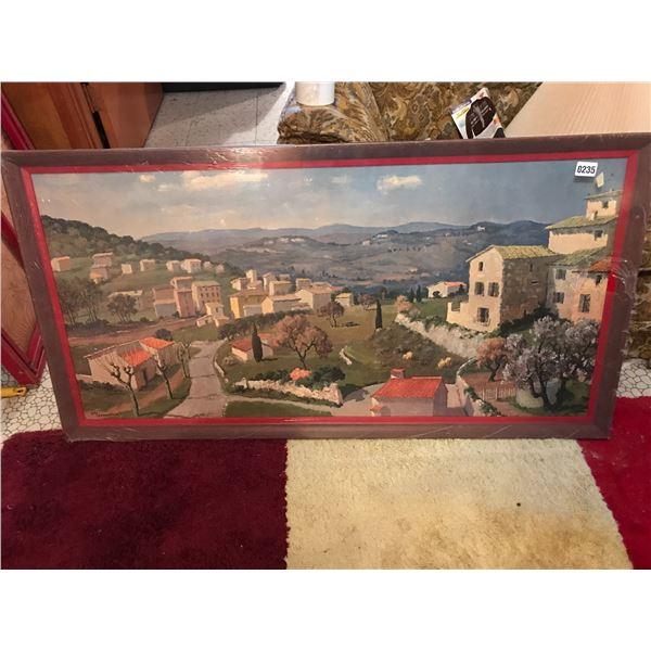 Large European Landscape Painting