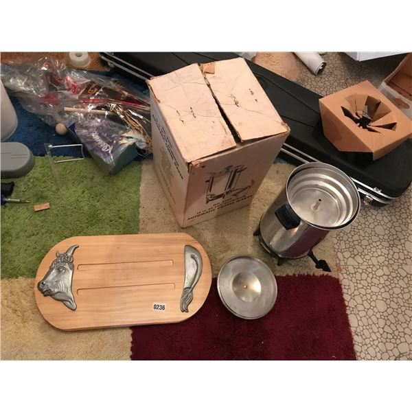 Automatic 12-30 Cup Coffee Maker & Wood Carving Board