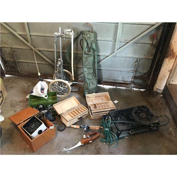 Transonic Fish Finder Depth Sounder 60/360, Fishing Reels, Tackle Boxes, Camp Stove, Vintage Gold Ca