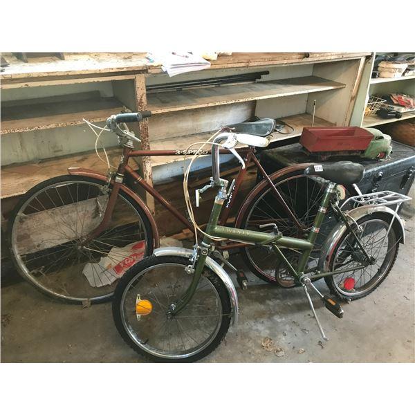 3 Speed Bicycle XL305 & Twenty Collapsible BM 931741 Bike