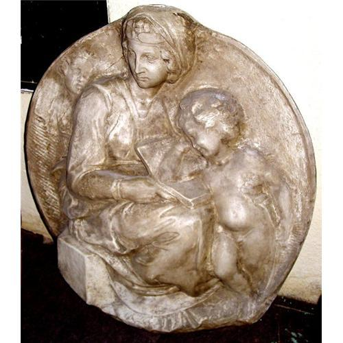 Italian carved relief sculpture medal pottery