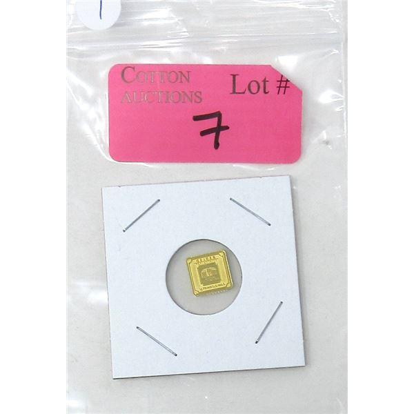 1 Gram .9999 Fine Gold Geiger Edelmetalle Bar