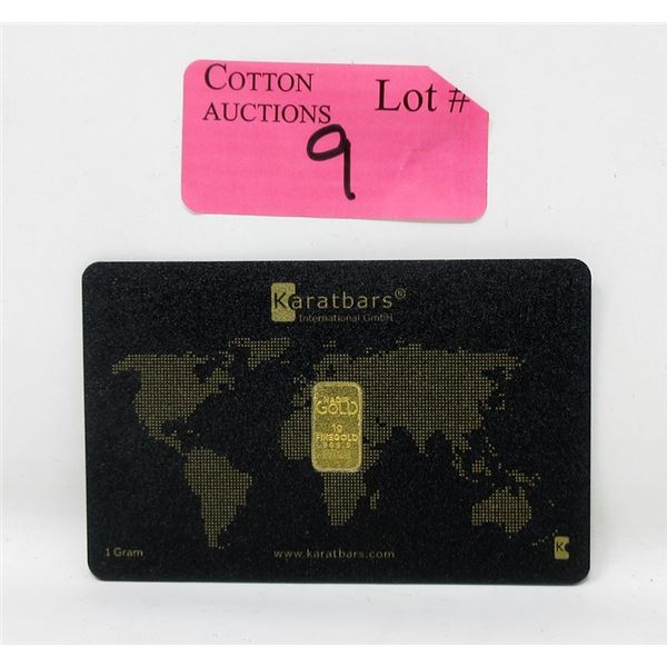 1 Gram Nadir Karatbars .9999 Fine Gold  Bar
