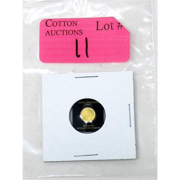 1 Gram .9999 Fine Gold 2021 Maple Leaf Coin