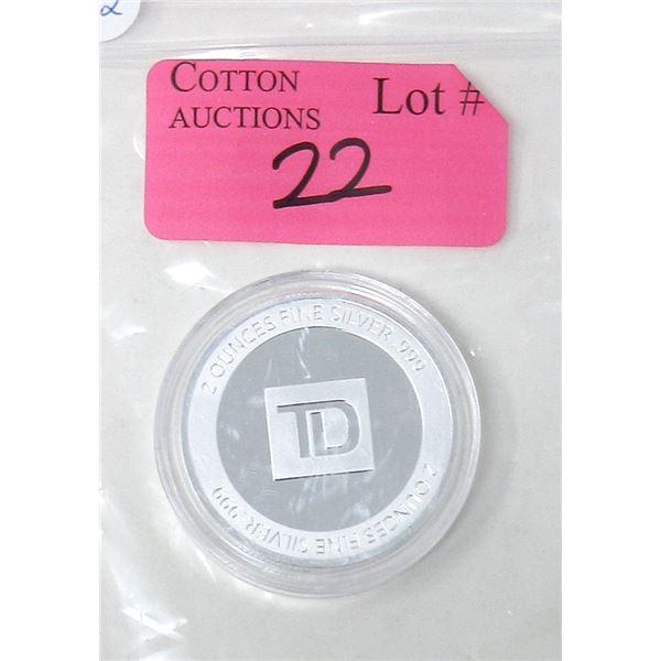 2 Oz .999 Silver TD Investor Round - Encapsulated