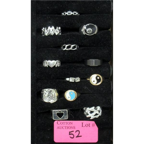 12 Assorted New Metal Rings