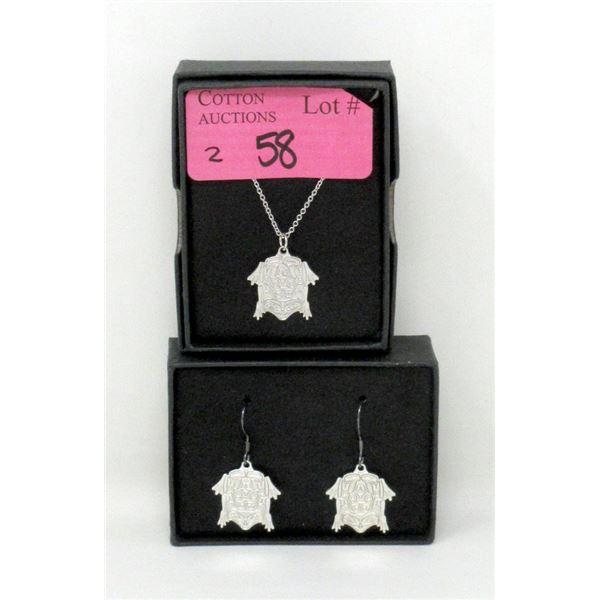 New Corey W. Moraes Frog Necklace & Earrings Set