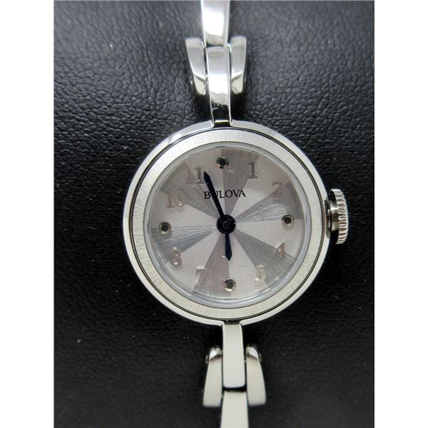 Ladies Bulova Quartz Stainless Steel Dress Watch