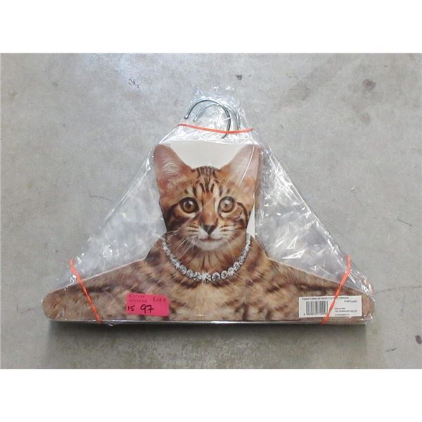 "15 New Cat Head Clothes Hangers - 15"" Wide"